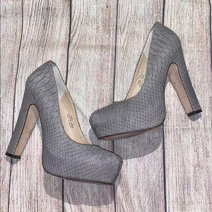 POUR La VICTOIRE Snake II Print Leather Heels Sz 6